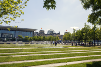 Berlin bundestag from kanzleramt