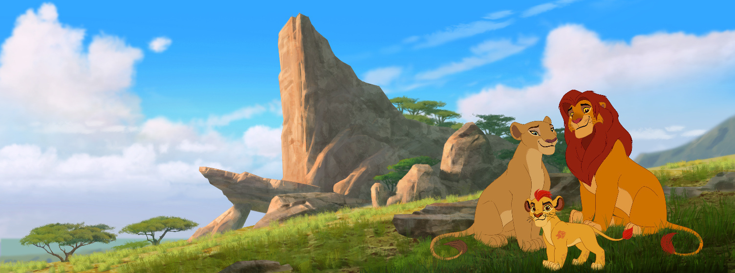The Lion Guard simba nala pride rock