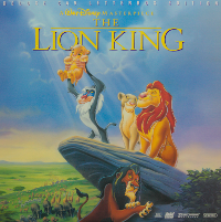 Lion King Laserdisc Cover 			deluxe