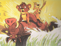 Lion King Laserdisc 			lithographs