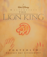 Lion King Laserdisc 			lithographs cover